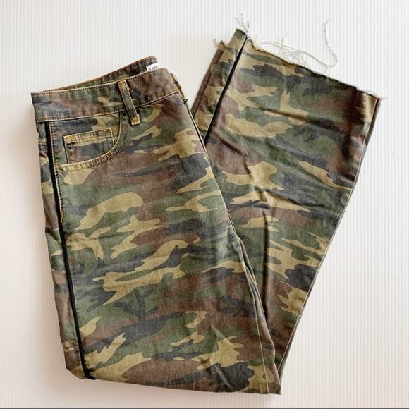 Zara Camouflage Wide Leg Pants